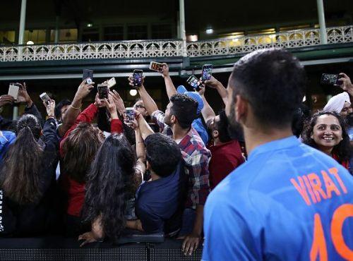 Virat Kohli with Fans