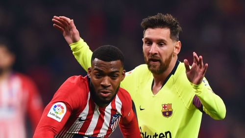 Thomas Lemar and Lionel Messi