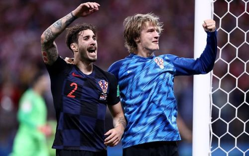 The attacking exploits of Jedvaj (right) could be key to how Croatia fare at Wembley