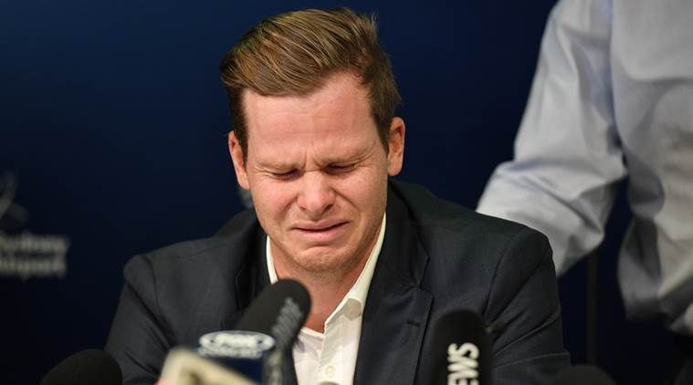 Steve Smith addresses the media after the ball-tampering scandal