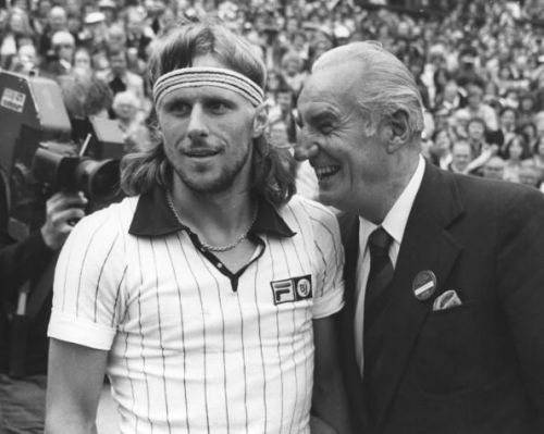 Fred Perry with Bjorn Borg