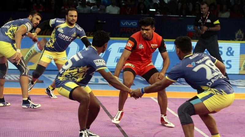 Pawan Kumar finished with just six raid points