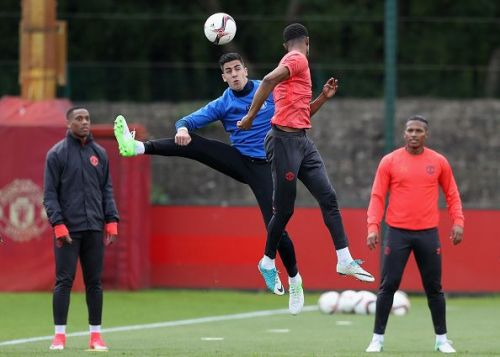 A lot of Manchester United's previously injured stars are back in training.