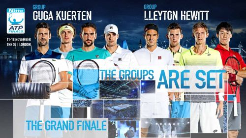 The two groups at the Nitto ATP Finals