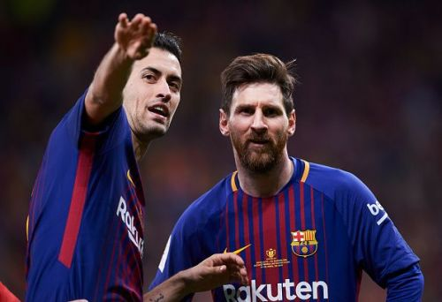 Sergio Busquets(l) has publicly responded to recent transfer rumours
