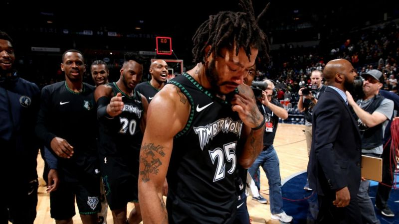 43026e1378e8 Derrick Rose cries tears of joy after a career-high 50 point game against  the