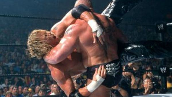 Brock Lesnar battles with Test at King of the Ring 2002
