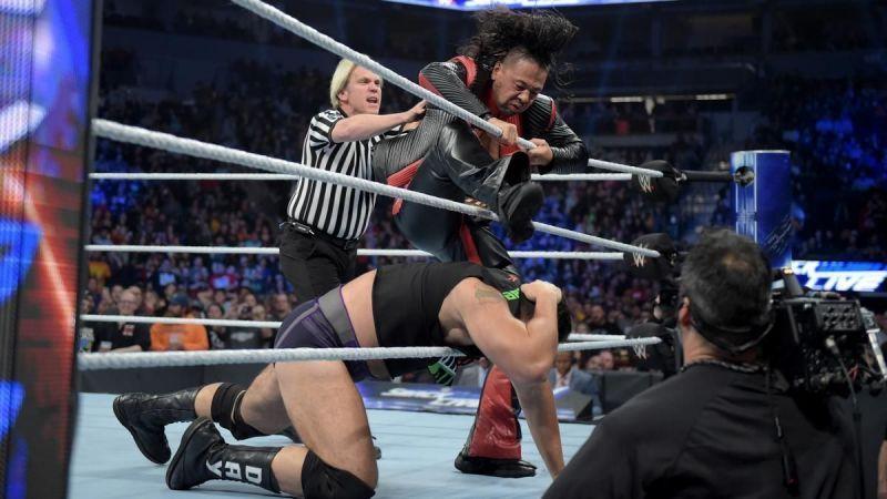 Nakamura attacking Rusev
