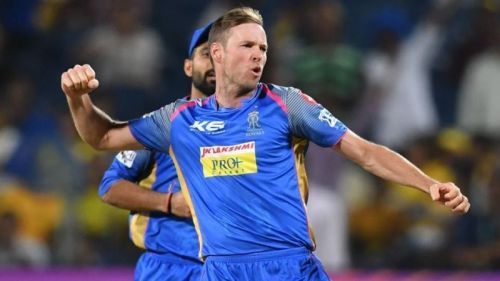 Ben Laughlin played for Rajasthan Royals in IPL 2018.