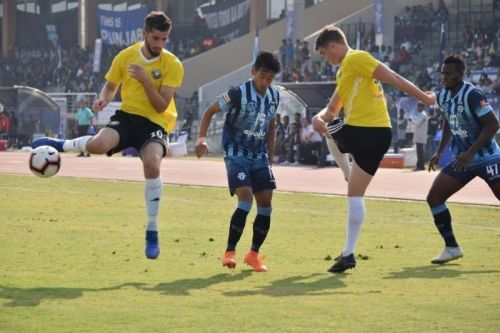 Real Kashmir FC in action (Image Courtesy: AIFF Media)