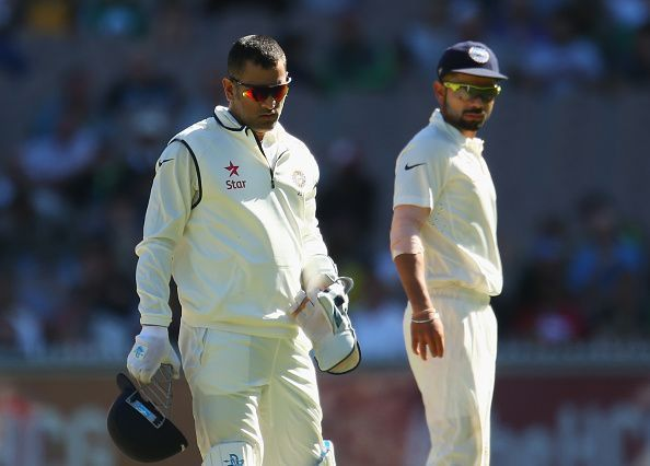 Kohli succeeded Dhoni as Test captain in the 2014/15 season