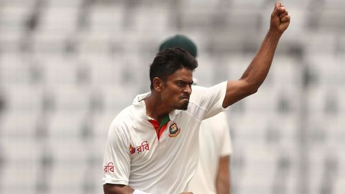 Taijul Islam in action for Bangladesh.