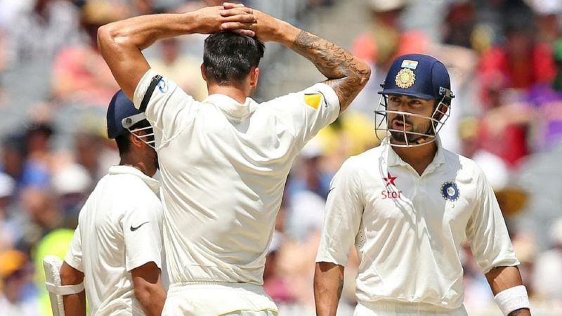 Johnson and Kohli engaged in a battle within the war