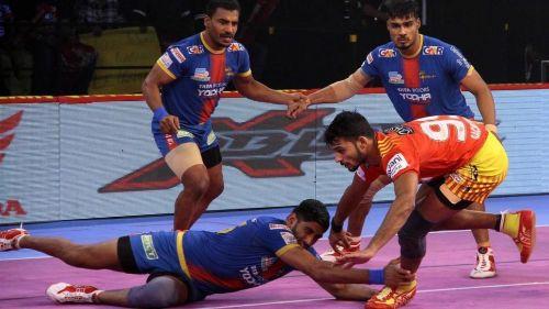 Sachin in action. [Picture Courtesy: ProKabaddi.com]