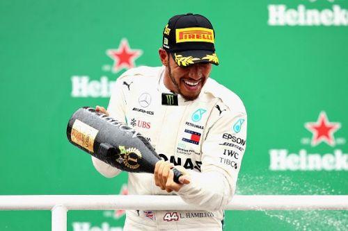 F1 Grand Prix of Brazil where Merc grabbed the constructor's title