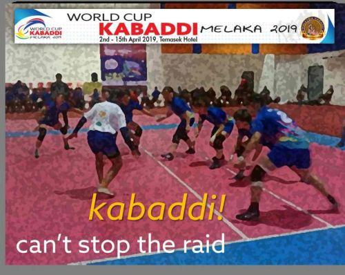 World Cup Kabaddi 2019's first advertisement.