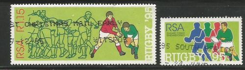 Stamps issued by South Africa on 1995 Rugby World Cup