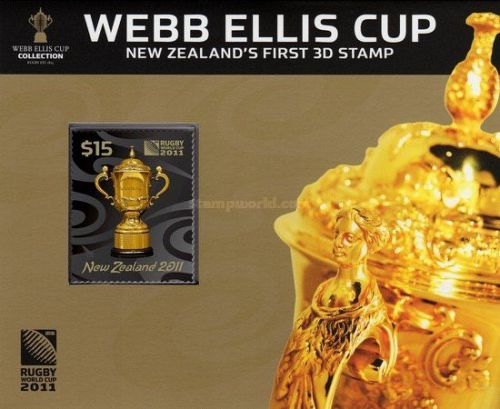 New Zealand issued a 3D stamp for this World Cup