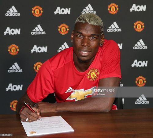 Manchester United unveil the signing of Paul Pogba (Picture Courtesy: Getty)