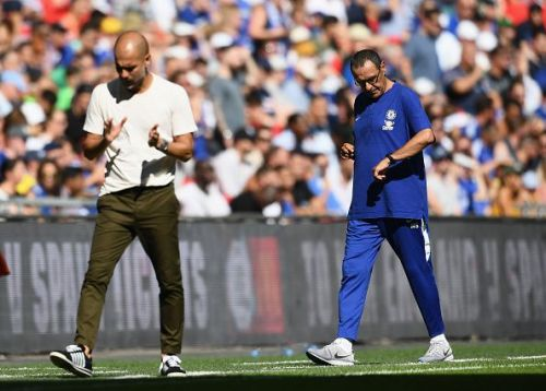 Guardiola and Sarri both remain unbeaten in the league