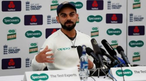 Virat during a Press meet