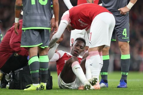 Arsenal star, Danny Welbeck, suffered a serious injury against Sporting in the UEFA Europa League