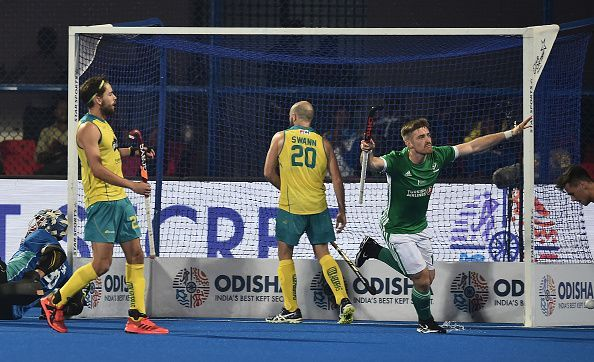 Action from the Australia v Ireland match at the Men