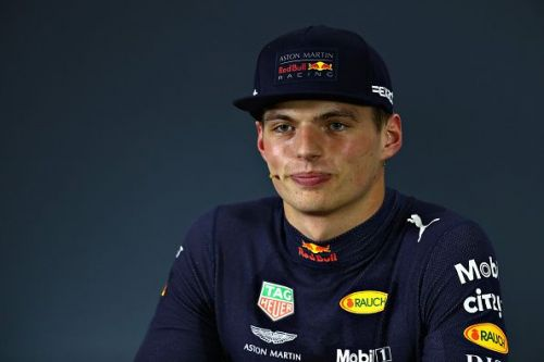 Verstappen was left stone-faced