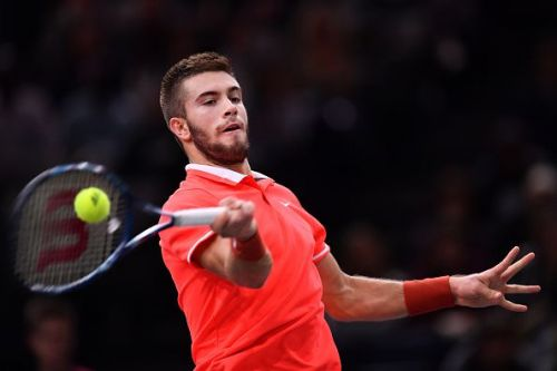 Borna Coric at the 2018 Rolex Paris Masters