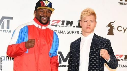 Floyd Mayweather (left) vs Tenshin Nasukawa (right)