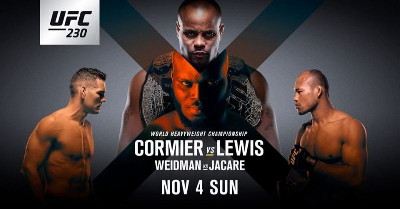 UFC 230: Matches Start time, Live streaming Info, TV
