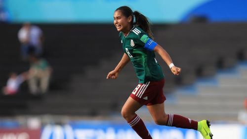 Nicole Perez of Mexico scored a brace to take Mexico into the semi-finals of the U-17 World Cup (Image Courtesy: FIFA)