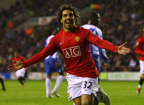 Tevez won two Premier League titles in his time with United