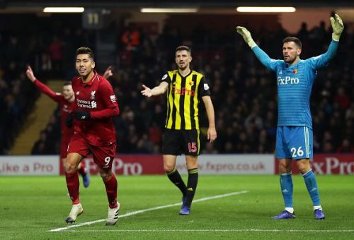 Firmino finally ended his drought with a goal against Watford.
