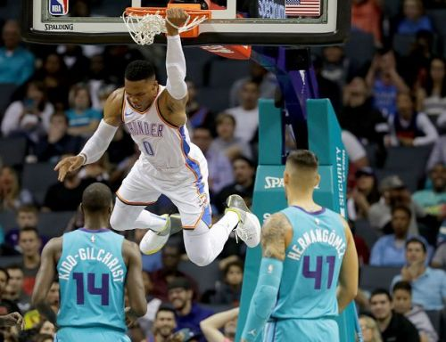 Russell Westbrook is well known for his incredible athletic ability at both ends of the court