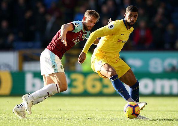 Loftus-Cheek in action during Chelsea's 4-0 win over Burnley