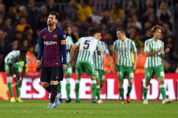 f43800dcb Messi s efforts went in vain Messi s efforts went in vain. FC Barcelona  were outplayed by Real Betis ...