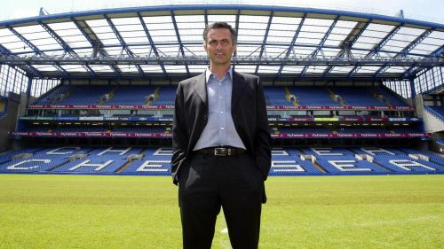 Jose Mourinho at the Stamford Bridge in 2004