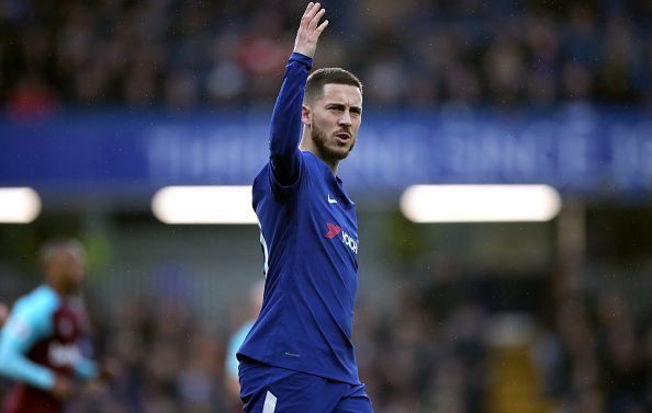Eden Hazard has tumbled down the rankings