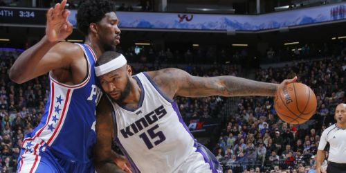 Joel Embiid and DeMarcus Cousins