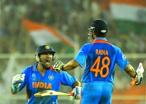Suresh Raina's 34 was one of the reasons India defeated Australia in the quarters