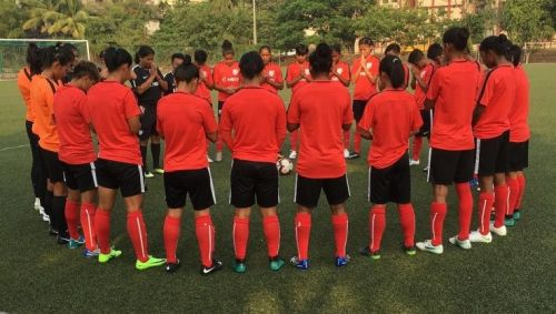 A file picture from the Indian women's football team training camp in Mumbai