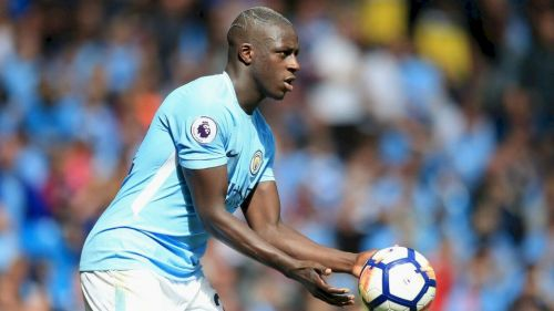 Benjamin Mendy plays for Manchester City in the Premier League