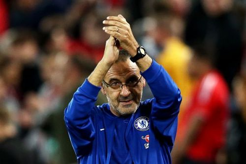 Sarri entered the history books when Chelsea drew with Everton on Sunday