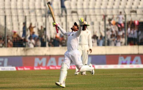 Mushfiqur Rahim became the only Bangladesh batsman to score a double-ton in Test twice