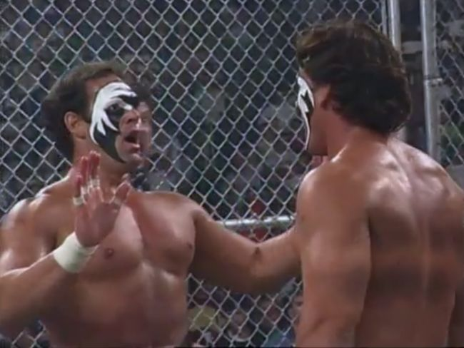 Sting confronting the