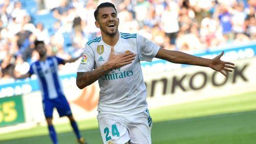 Dani Ceballos celebrating a goal against Alaves