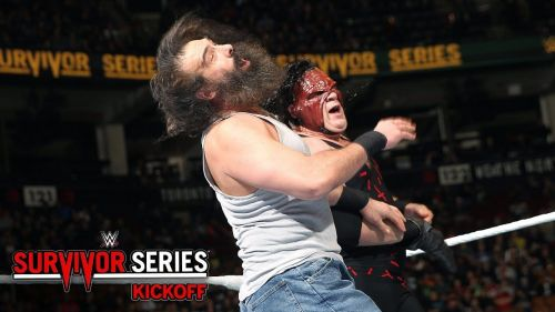 Kane battled Luke Harper at the Survivor Series 2016 kick-off show