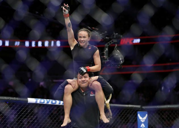 Michelle Waterson is victorious at UFC 229