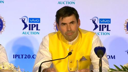 Stephen Fleming at the IPL Auction 2018